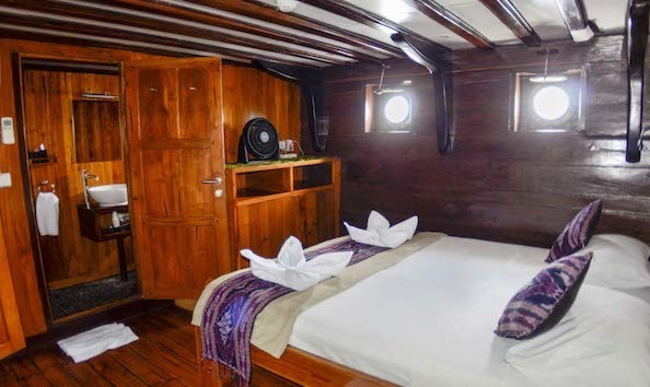 Big image lower deck double cabin msv amira luxury indonesian scuba diving livaboard